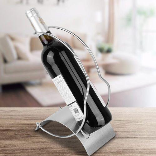 European Style Stainless Steel Wine Holder Rack Ornament