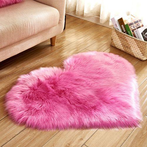 NER Sheepskin Non-slip Bedroom Furry Carpet Mat