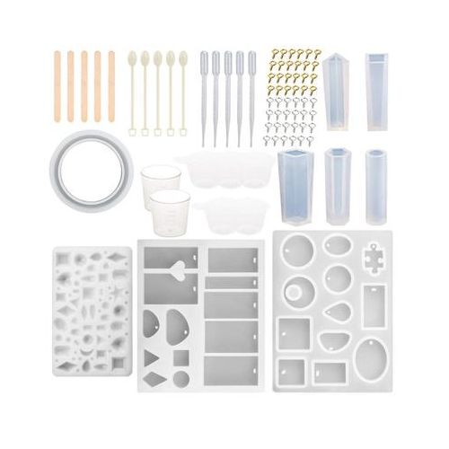 1Set/79Pcs DIY Creative Crystal Epoxy Jewelry Silicone Mold Resin Casting Mould Craft