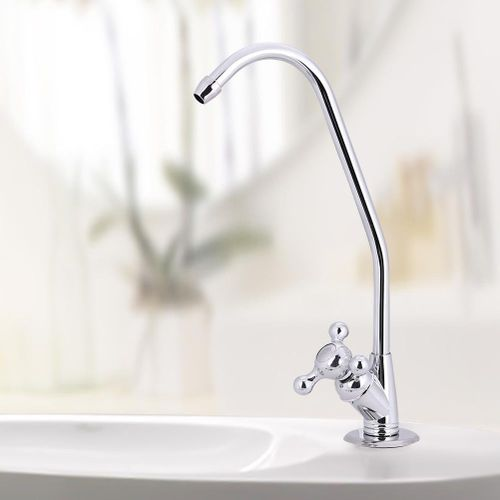 1/4'' Zinc Alloy Kitchen Faucet Tap Chrome Reverse Osmosis RO Drinking Water Filter