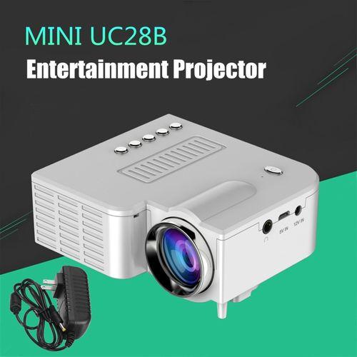 Micro UC28B Mini Multimedia LED Projector Home Cinema-White