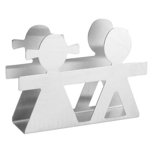 Stainless Steel Napkin Holder Modern Serviette Holder Rack Table Decor Lover Style