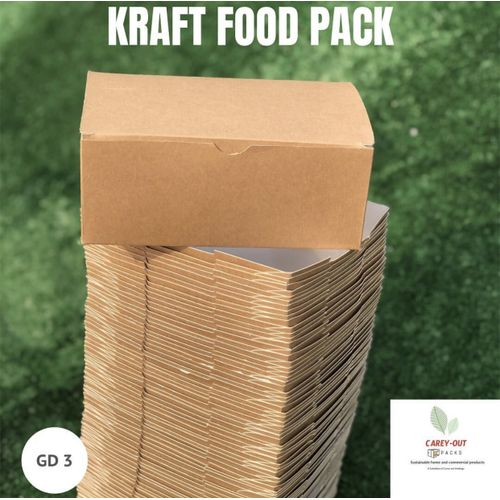 DISPOSABLE FOOD BOX - WHITE - 100 Units