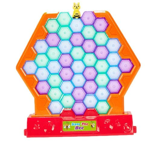 Board Parent-child Educational Desktop Hobby Charm Bee Family Honeycomb Desktop Board Stylish Interactive Puzzles Save Toy