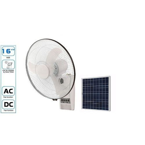 Rechargeable 16'' Wall Fan With Remote And Solar