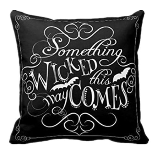 Dtrestocy Wicked Chalkboard Halloween Throw Pillow Cover Decorative Pillowcase18x18Inch