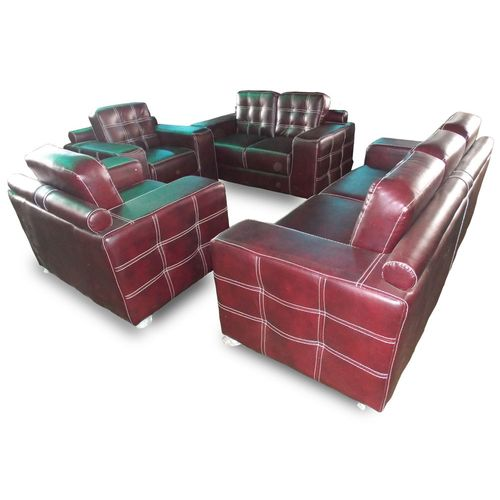 Unique Brown 7 Seater Italian Leather Sofa