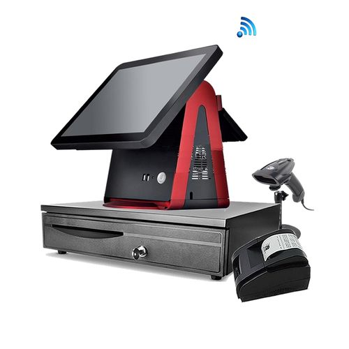 LT-1520 Complete Touch POS System Bundle With Printer, Scanner, Cash-drawer, Customer Display, WIFI And Software