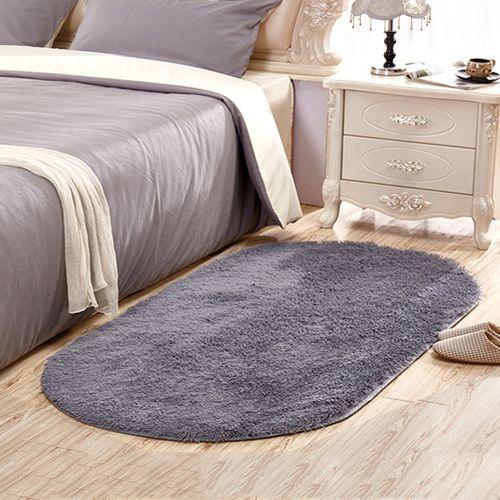 Home Floor Rug Modern Simple Solid Supple Comfy Bedside Mat