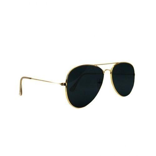 Unisex Aviator Sunglasses - Black Lens