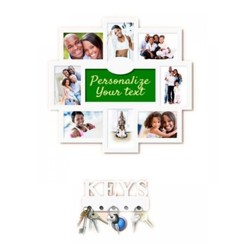 Personalized Picture Frame PLUS Key Hanger