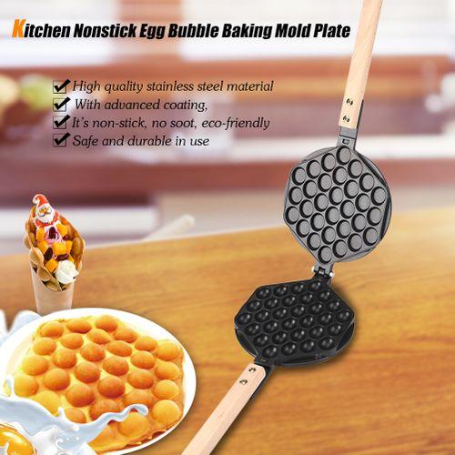 Kitchen Nonstick Egg Bubble Baking Mold Plate Waffle Maker Pan Tool