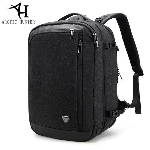 "2019 ARCTIC HUNTER 4 Way 4 Bags, Laptop Backpack,Security, Business, Travel Bag, School Bag, For Men & Women, Smart Bag, Water Resistant Backpack School Bag, Large Capacity Business Backpack Fits UNDER 18"" Laptop & Notebook - Black"