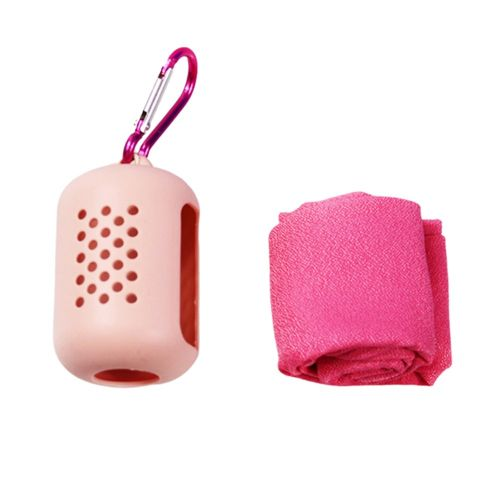 Outdoor Travel Portable Quick-Drying Towel Microfiber Sports Cold Towel Pink