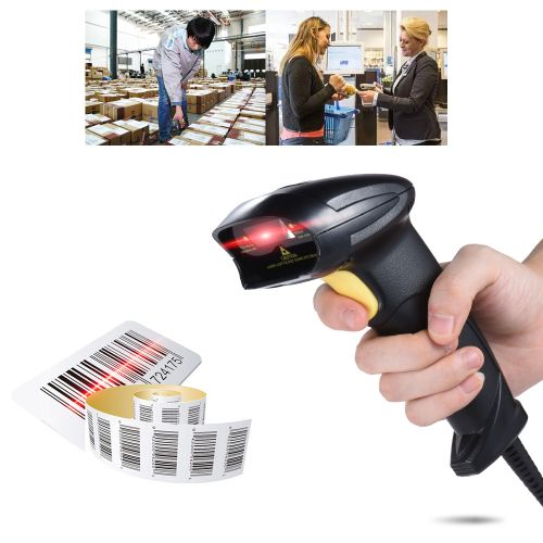 Wired Automatic Handheld Laser Barcode Scanner Reader