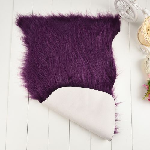 Dtrestocy Soft Rug Chair Cover Artificial Advanced Fibers Warm Hairy Carpet Seat Pad New