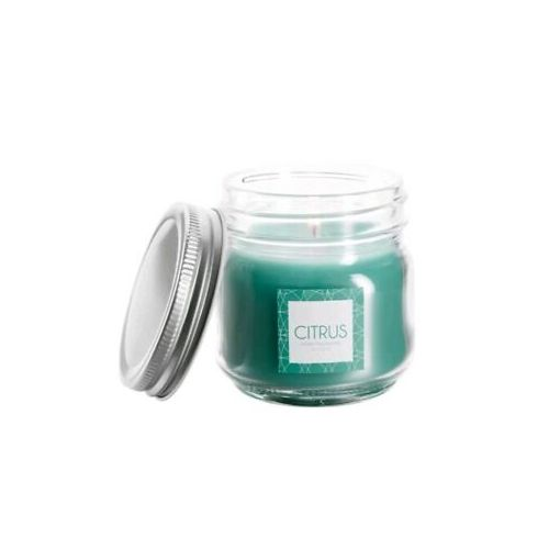 Citrus Scented Glass Candle