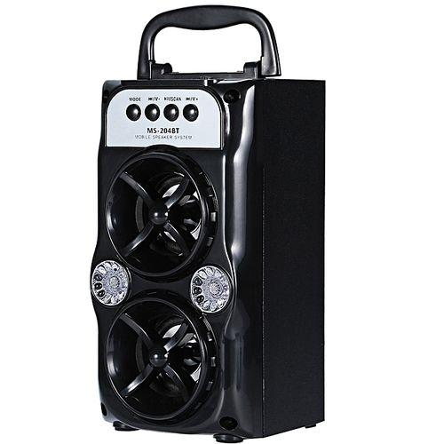 Leadsmart MS - 204BT Portable High Power Output Multimedia FM Radio Wireless Bluetooth Speaker