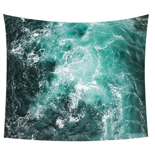 3D Beach & Wave Style Hanging Tapestry Towel Carpet Tapestry Dorm Bedroom Living Room Picnic