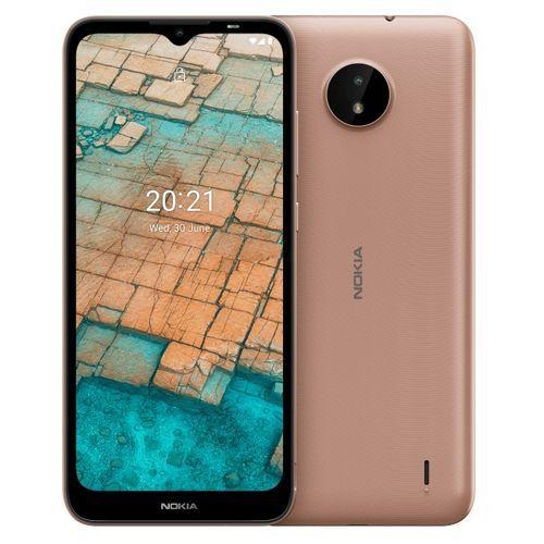 "C20 (TA-1352 DS) 6.5"" HD+ Display, 2GB RAM + 16GB ROM, Android 11, 5MP + 5MP Camera, 4G LTE, 3000mAh, Face ID - Sand"