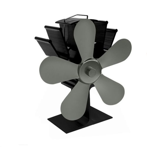 OR 602 Blades Heat Powered Stove Fan Silent Fireplace Iron G