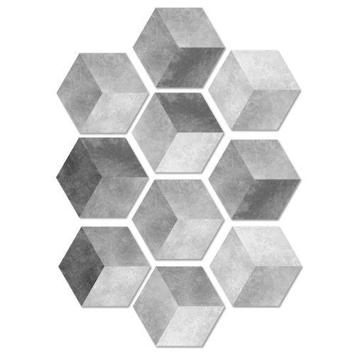 Lodaon 10Pcs Self Adhesive Tile Floor Wall Decal Sticker DIY Kitchen Bathroom Decor