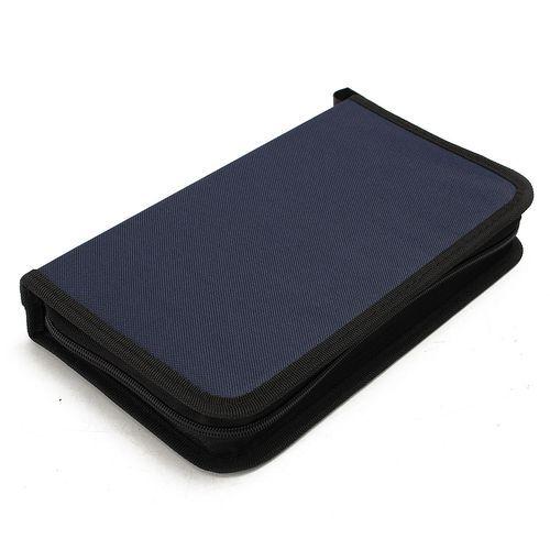 CD VCD DVD 80 Discs Storage Holder Cover Carry Case Bag Orananizer Blue NEW
