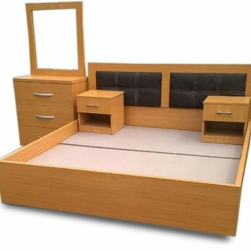 6'×6' Feet Bedframe. '+ FREE OTTOMAN' (Delivery Lagos Only)