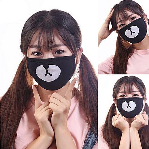 Kawaii Unisex Ayo And Teo Face Panda Bear Mouth Mask