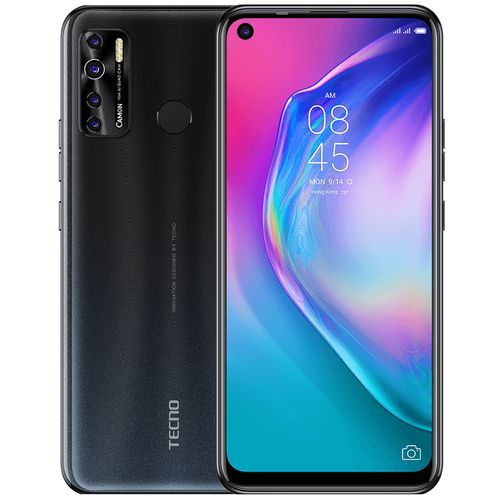 "Camon 15 Air (CD6) 6.6"" FHD 3GB RAM+64GB ROM, Android 10, 48MP Quad Rear Camera, 5000mAh, 4G, Fingerprint Face ID - Grey"