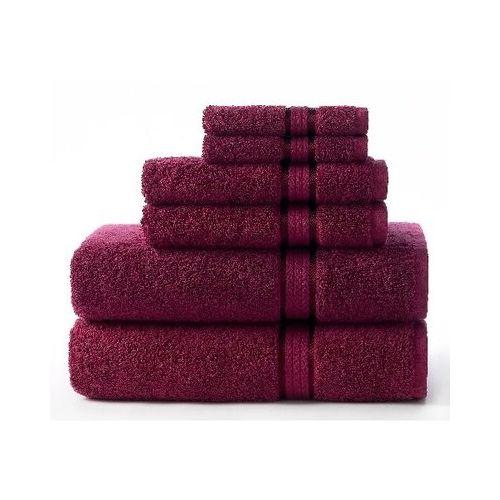 Cotton Craft Ultra Soft 6 Piece Towel, Wine