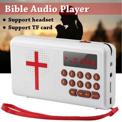 Bible Speaker Audio Player Electronic English Listen Bible LED TF Card Plastic
