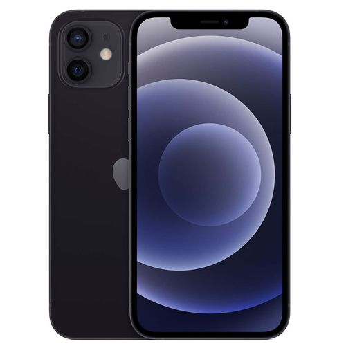 IPhone 12-6.1 Inches -(64GB +4gb Ram),IOS 14-Dual Camera (wide And Ultra Wide Camera) 5G - Black