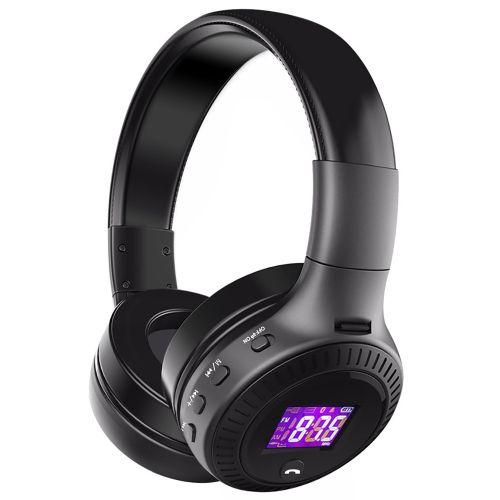 Wireless Bluetooth Headphone Super Bass Stereo Headset TF Card MP3 Playback FM Radio Handsfree With Microphone(B19-Black) XIAOY