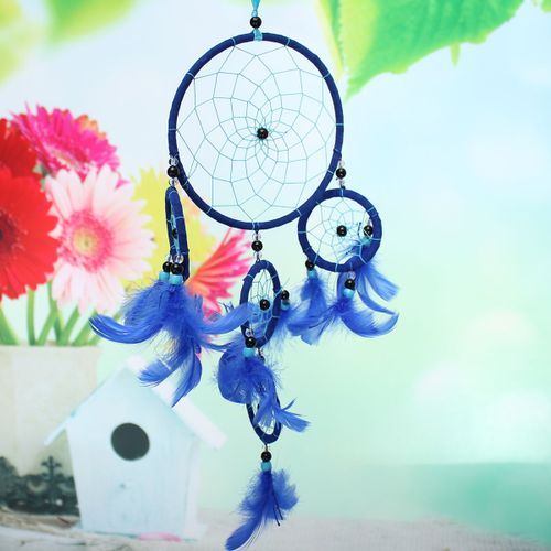 Colorful Dream Catcher With Feathers Gift For Wall Hanging Decoration