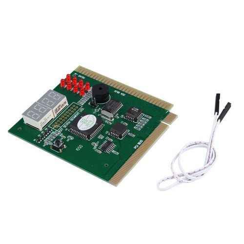 4-Digits Analysis Diagnostic Motherboard Tester Desktop PCI Express Card Green