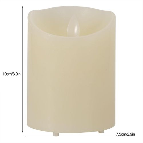 10 Button Remote Charging Led Flame-Less Candles Battery Operated Swinging Flame Candle Furnoor