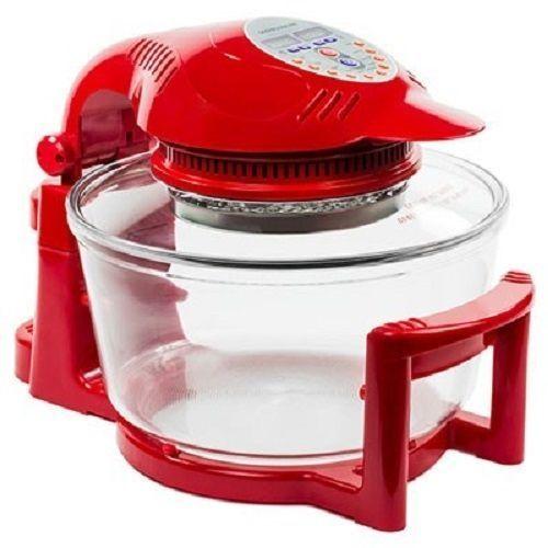 Linsan Hinged Digital Halogen Oven - Red
