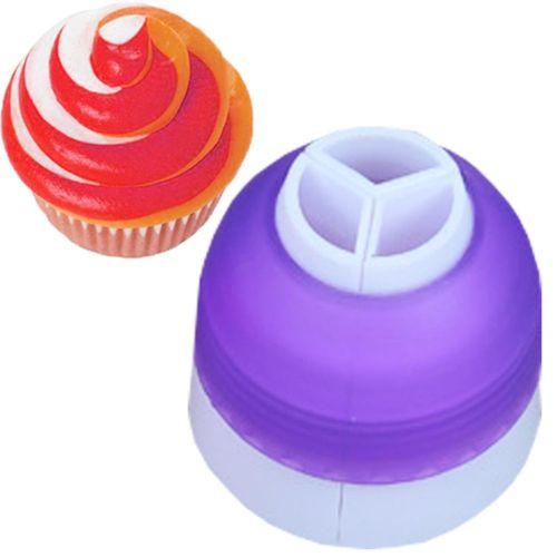 3 Pipe Bag Color Nozzle Conversion Coupler For Kitchen Tool Fondant Cake Cream Decor