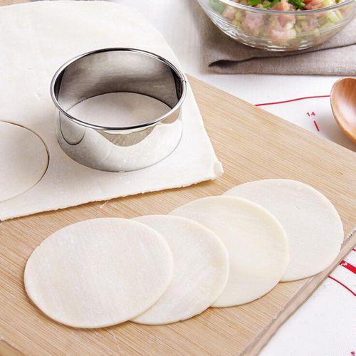 3pcs/set Stainless Steel Dumpling Wrapper Mold Set Dumpling Maker Kitchen Gadgets Dumplings Cutter