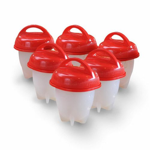 Portable Mini Non-Stick Heat-Resistant Silicone Egglettes Egg Cooker (6 PCS)
