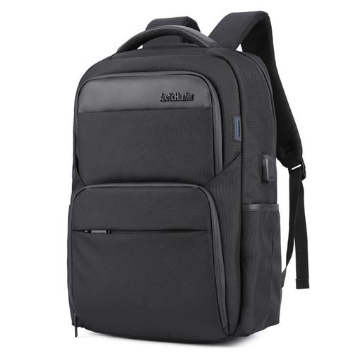 ARCTIC HUNTER ARMO B113 Laptop Backpack,Anti Theft Bag With USB Charging Port ,Smart Bag, Water Resistant Backpack School Bag, Large Capacity Business Backpack - Black