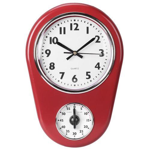 Vintage Wall Big Watch Hanging Clock Home Kitchen Timer