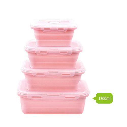 Honana Silicone Folding Bento Box Collapsible Portable Lunch Box For Food Dinnerware Food Container Food Bowl # 1200ML