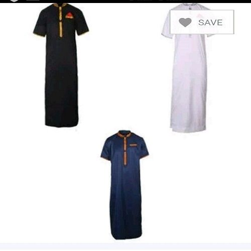 Trending Jalabia 3in1 White Black And Blue