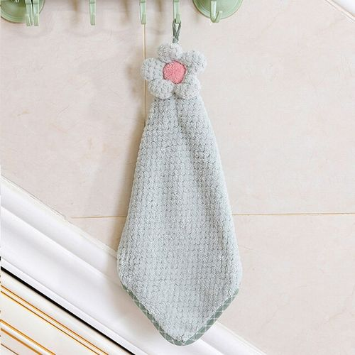Children Towels Hanging Coral Fleece Hand Towel