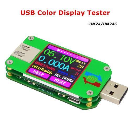 RUIDENG UM24/UM24C USB 2.0 Color LCD Display Tester Voltage Current Me