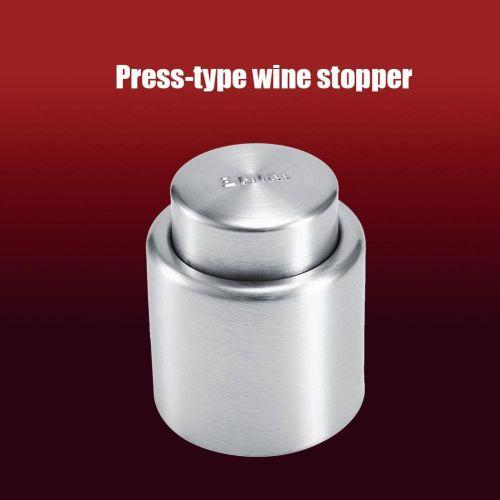 Stainless Steel Vacuum Sealed Wine Champagne Red Wine Cork Storage Bottle Stopper Cap Barware