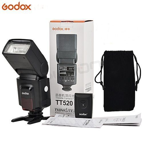 TT520II Flash Light With Build-in 433MHz Wireless Signal Plus Color Filter Kit For Canon Nikon Pentax Olympus DSLR Cameras