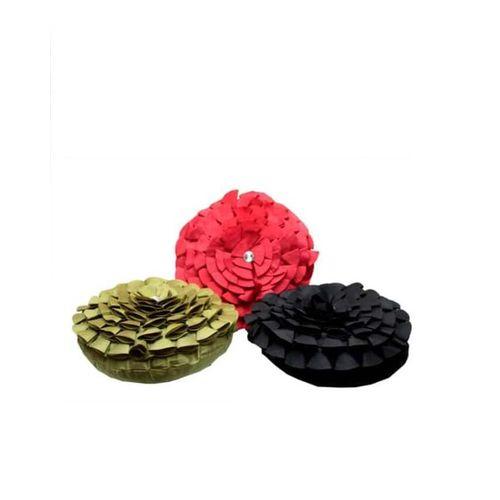 3 Pieces Of Round Throw Pillows